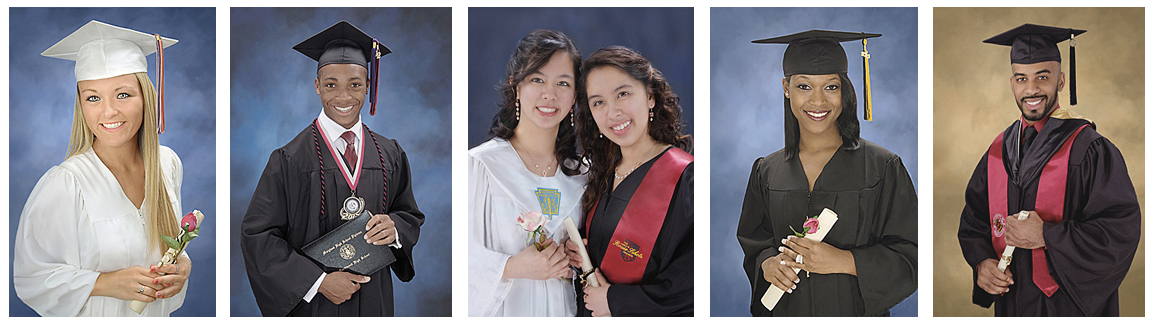 Graduation & Yearbook Portraits - Drapes, Tuxedos, Caps & Gowns