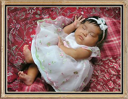 Baby girl sleeping anita